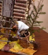 Поделки баба Яга из природного материала. Как сделать ступу, метлу и дачу?
