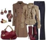 С чем носить бордовый мешок: примеры хороших сочетаний
