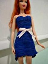 Простой и сложный платье для Барби крючком: схемы
