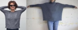 Свитер стихов спицами: модные модели для женщин