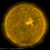 На Солнце произошла мощная вспышка