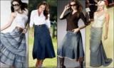 Джинсовая юбка в пол: как и зачем носить, рекомендации, фото