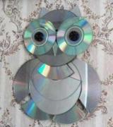 Как сделать сову из дисков