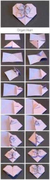 Как сделать оригами сердце?