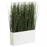 Искусственная трава в горшке: применение в интерьере, стоимость